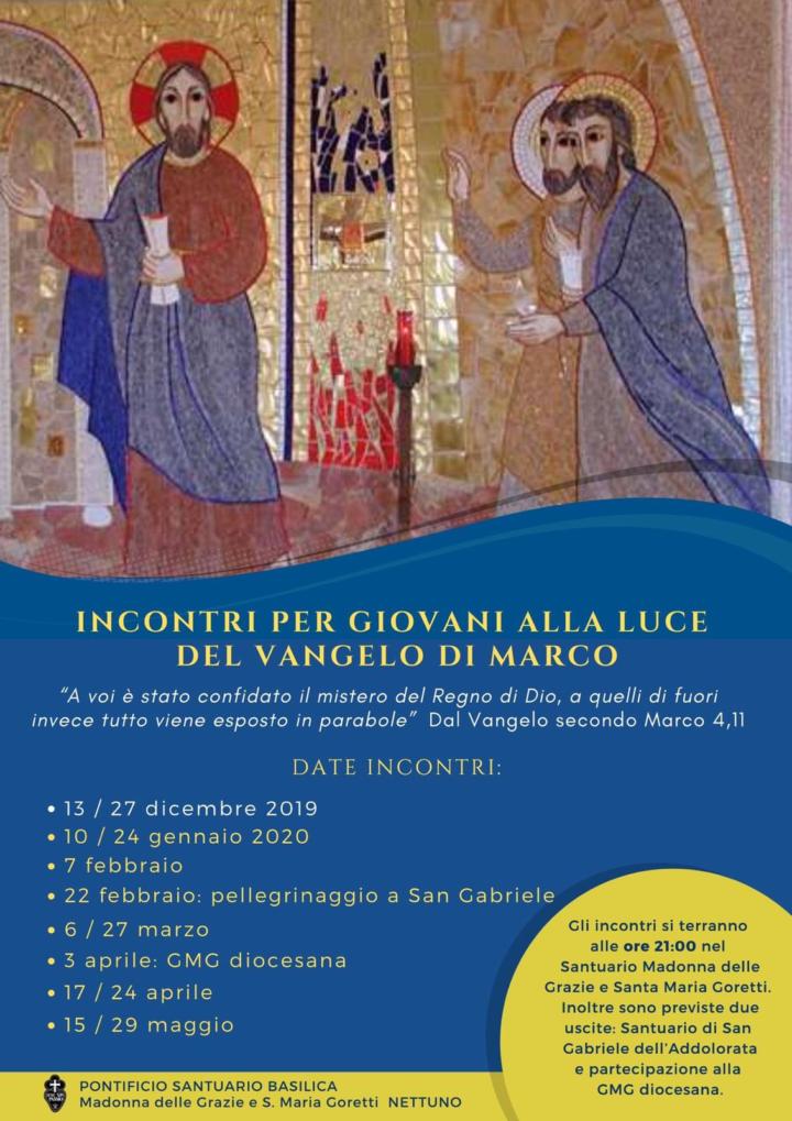 Incontri per giovani alla luce del Vangelo di Marco